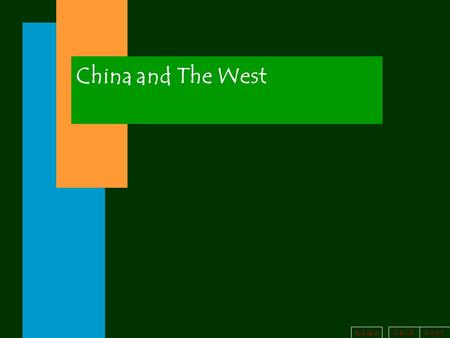 China and The West.