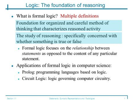 Logic: The foundation of reasoning