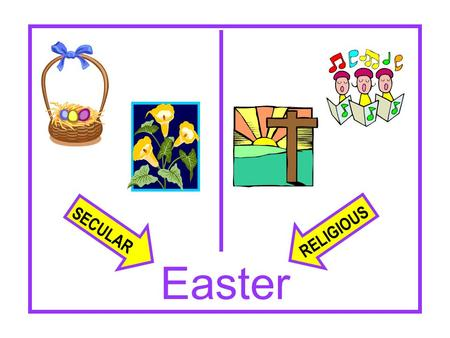 SECULAR RELIGIOUS Easter. Does The Bible Even Mention It? In terms of the present-day holiday…No In any passage at all…the KJV in Acts 12:4 Word in original.