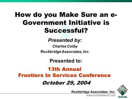 How do you Make Sure an e-Government Initiative is Successful?