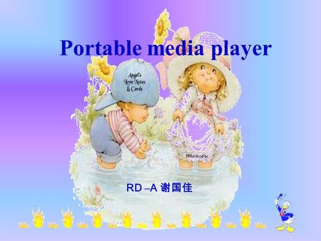 Portable media player RD –A 谢国佳.