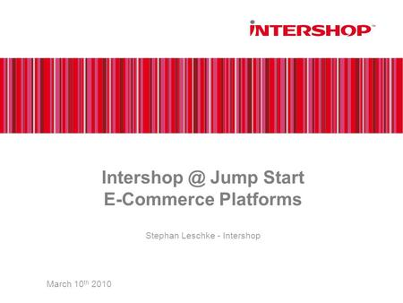 Jump Start E-Commerce Platforms