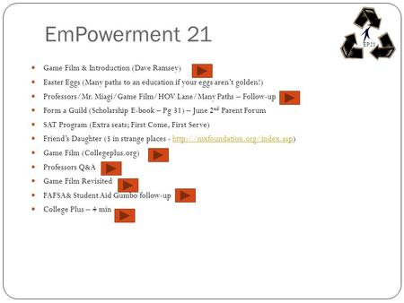 EmPowerment 21 Game Film & Introduction (Dave Ramsey)