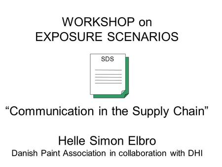 Supply chain communication, GPS safety summaries, (e)SDS and