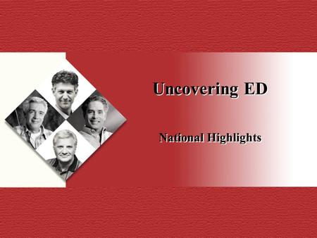 Uncovering ED National Highlights. ED FACTS ED affects 2 to 3 million men in Canada Vascular disease is one of the leading causes of ED 1 Prevalence of.