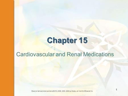 Cardiovascular and Renal Medications
