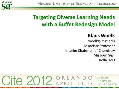 Targeting Diverse Learning Needs with a Buffet Redesign Model