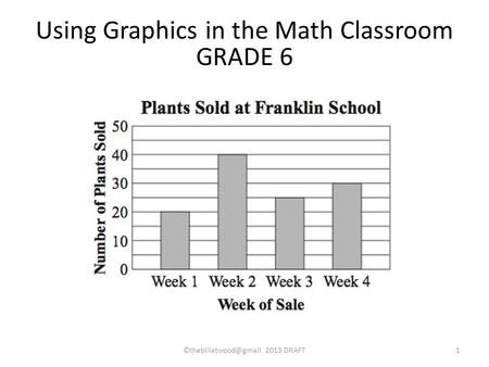 Using Graphics in the Math Classroom GRADE 6 2013 DRAFT1.