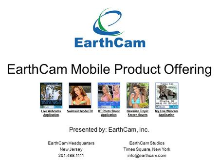 EarthCam Mobile Product Offering