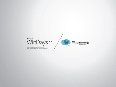 Presentation held by Tomislav Piasevoli at the local WinDays 11 conference, Rovinj, Croatia. Monday, 16:10-17:00, Room 6. http://www.mswindays.com/
