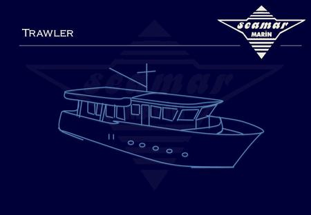 Trawler. Seamar Marin Trawler – 31 Main Specifications Build Year 2011 Category Class B Type Trawler L.O.A. 9.50 m Beam 3.20 m Material GRP Cabin 1 Master.