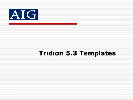 Tridion 5.3 Templates.