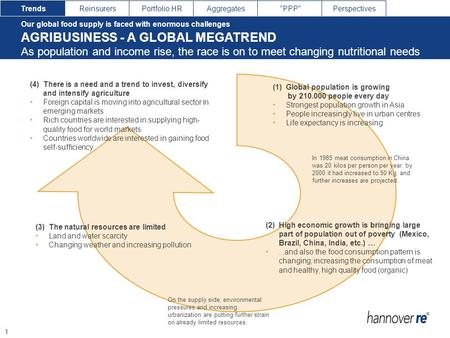 AGRIBUSINESS - A GLOBAL MEGATREND