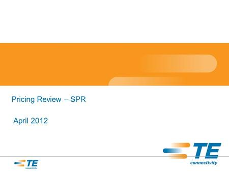 Pricing Review – SPR April 2012. Channel SPR Request Performance.
