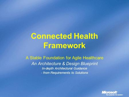 Connected Health Framework