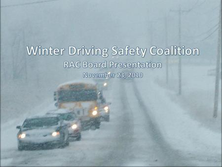1. Every winter, thousands of motorists are involved in preventable crashes that create a huge burden on Ontarios public services (police and healthcare),