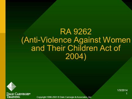 RA 9262 (Anti-Violence Against Women and Their Children Act of 2004)