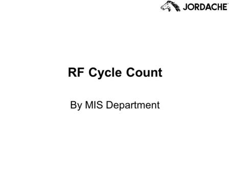 RF Cycle Count By MIS Department.