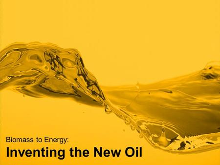 Biomass to Energy: Inventing the New Oil. Range Fuels is a privately held company founded by Khosla Ventures, arguably the top venture capital firm in.