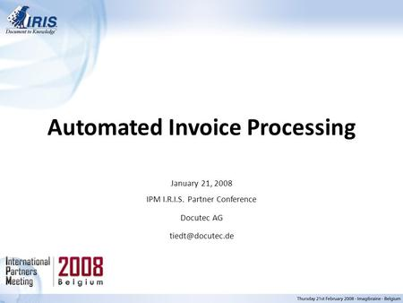 Automated Invoice Processing