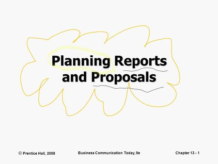 Planning Reports and Proposals