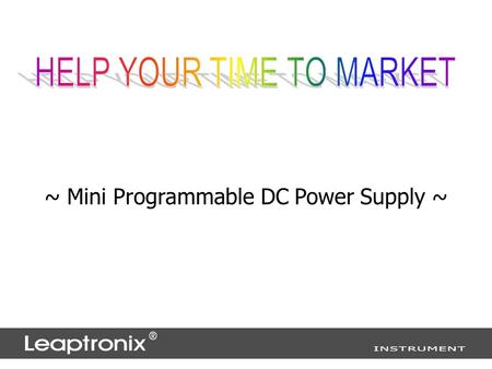~ Mini Programmable DC Power Supply ~. mPP Series :