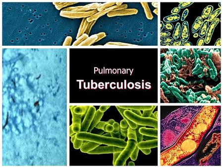 Pulmonary Tuberculosis.