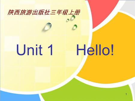1 Unit 1 Hello!. Alice Su Nan Kitty Wu Chen Colin Kevin.