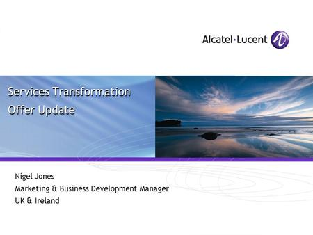 Services Transformation Offer Update