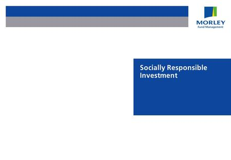 Socially Responsible Investment. Page 2 Agenda Adding shareholder value using sustainable development Focusing investments Developing appropriate retail.