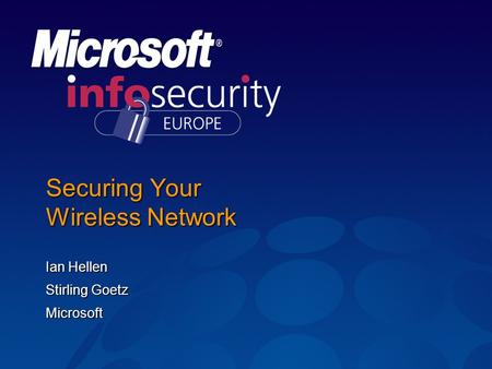 Securing Your Wireless Network