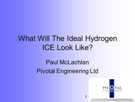 What Will The Ideal Hydrogen ICE Look Like?