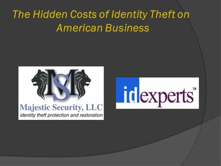 The Hidden Costs of Identity Theft on American Business.
