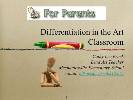 Differentiation in the Art Classroom