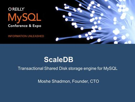 ScaleDB Transactional Shared Disk storage engine for MySQL