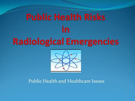 Public Health and Healthcare Issues. Public Health and Healthcare.