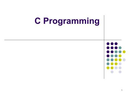 1 C Programming. 2 Operators 3 Operators in C An operator is a symbol that tells the computer to perform certain mathematical or logical manipulation.