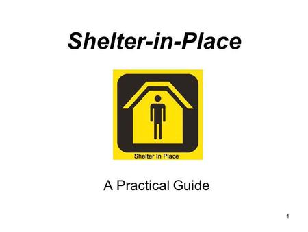1 Shelter-in-Place A Practical Guide. 2 Chemical Fire Aboard Train Prompts Evacuation in Kentucky City Danville, KY - Portions of Danville, Kentucky were.