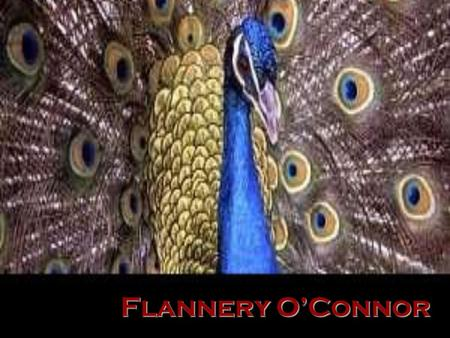 Flannery OConnor. American writer, whose novels and short stories focusing on humanity's spiritual deformity and flight from redemption earned her a unique.