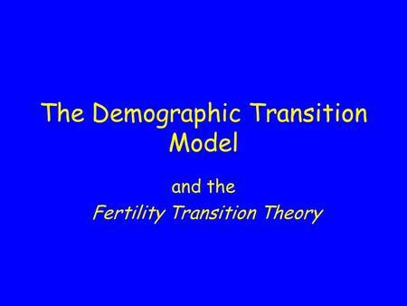 demographic transition theory of population pdf
