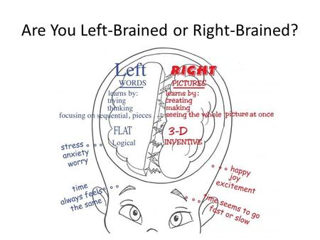 Are You Left-Brained or Right-Brained?