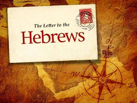 "Hebrews 1:1 ""God"" Starts the letter with the agreement of the Creator of both the Jews <strong>and</strong> Christians Genesis, ""In the beginning God"" ""various times"" -"