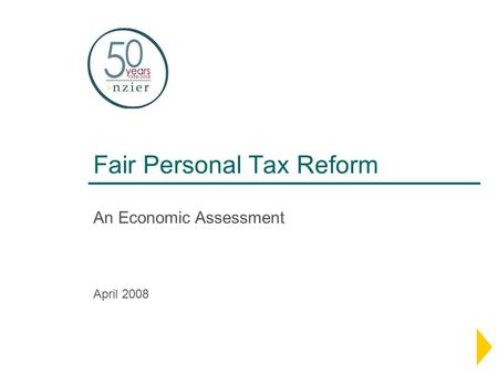 Fair Personal Tax Reform An Economic Assessment April 2008.