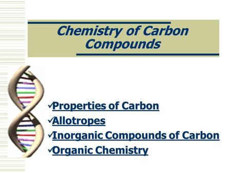 Chemistry of Carbon Compounds
