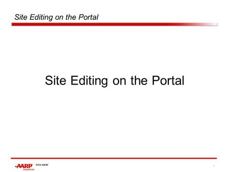 1 Site Editing on the Portal. 2 After signing on, click on the plus sign for Sites :