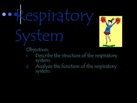 Respiratory System Objectives: