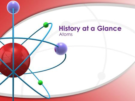 History at a Glance Atoms.