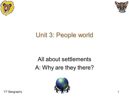All about settlements A: Why are they there?