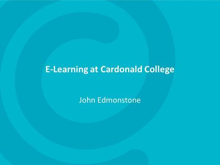 E-Learning at Cardonald College