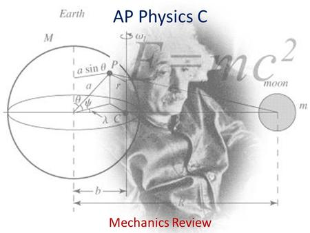 AP Physics C Mechanics Review.